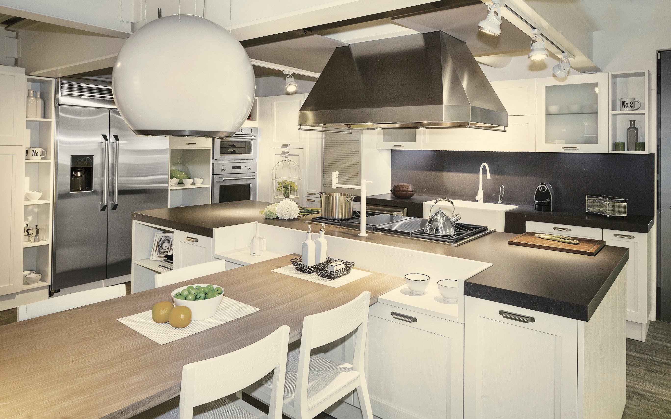 Cocinas mas dise os y laminados for Lavarropas en la cocina